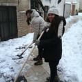 scout spalano la neve