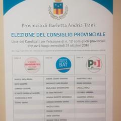 candidati alle elezioni provinciali