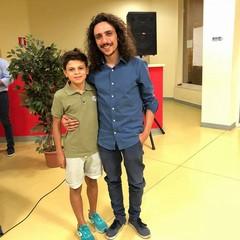 Salvatore Renna con il protagonista del cortometraggio Lorenzo Carulli