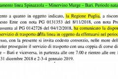 """Di Bari (M5S): """"Potenziamento del trasporto su gomma per la tratta Spinazzola-Minervino-Bari"""""""