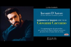 """Giovanni Caccamo è l'artista di """"Incontri D'Autore"""" nel Puglia Outlet Village"""