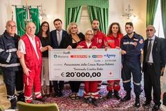 Terremoto, Despar consegna un assegno da 20.000€ alla Croce Rossa Italiana