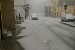 Arriva la prima neve: Spinazzola imbiancata