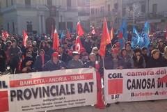 Sciopero generale del 12 dicembre, nella Bat manifestazione a Canosa di Puglia