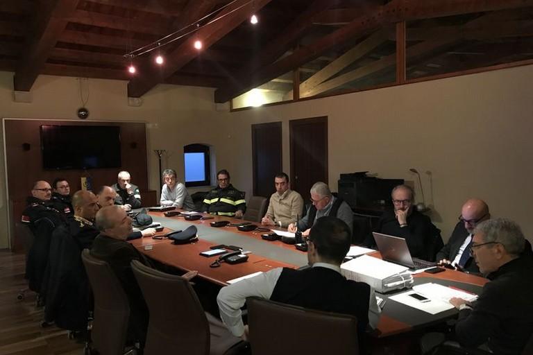 riunione in Prefettura della Protezione civile