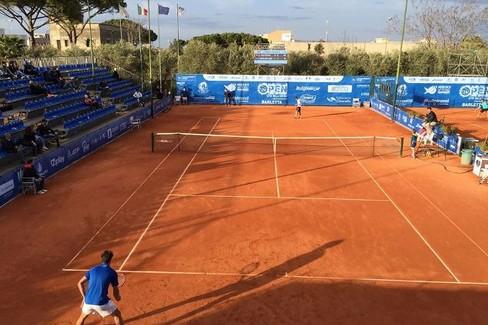I campi del Circolo Tennis Barletta durante il challenger Atp