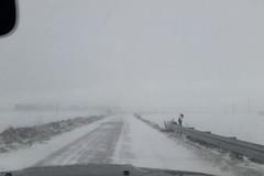 Murgia a nord di Bari nella morsa del freddo, con neve a bassa quota