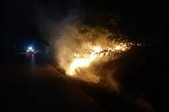 Sedato incendio sulla strada Minervino-Spinazzola