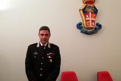 Il colonnello Alessandro Andrei al Comando provinciale dei Carabinieri del gruppo Bat