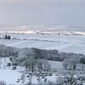 La neve imbianca il borgo di Spinazzola