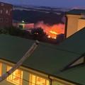 Incendio a ridosso del centro abitato