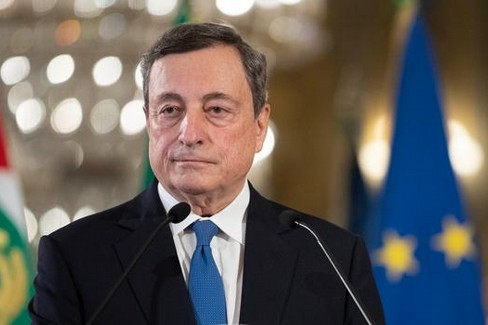 Il presidente Mario Draghi