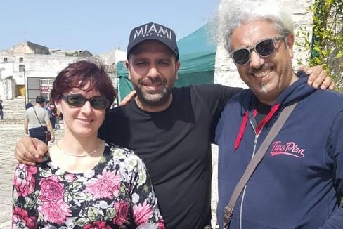Saverio Costantino con Checco Zalone